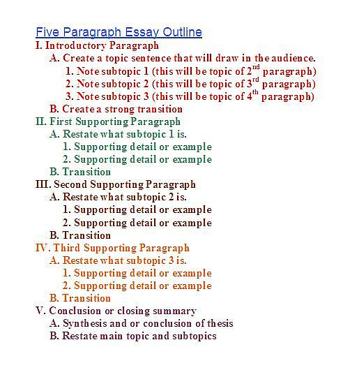 steps structure h general paper  essay outline linear